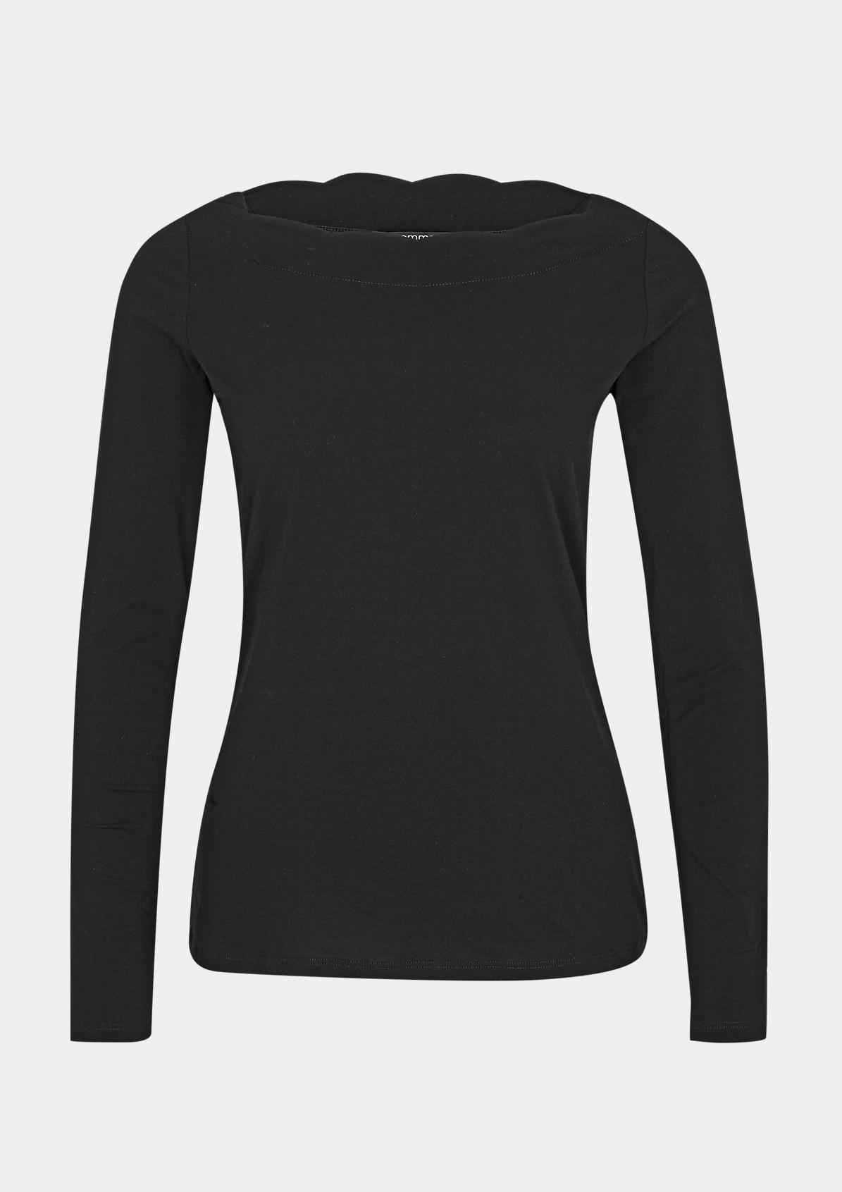 Jerseyshirt mit U-Boot-Ausschnitt