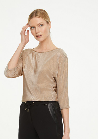 Shimmering top with satin trim from comma