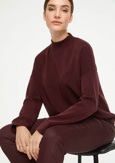 Sweatshirt with a high neckline from comma