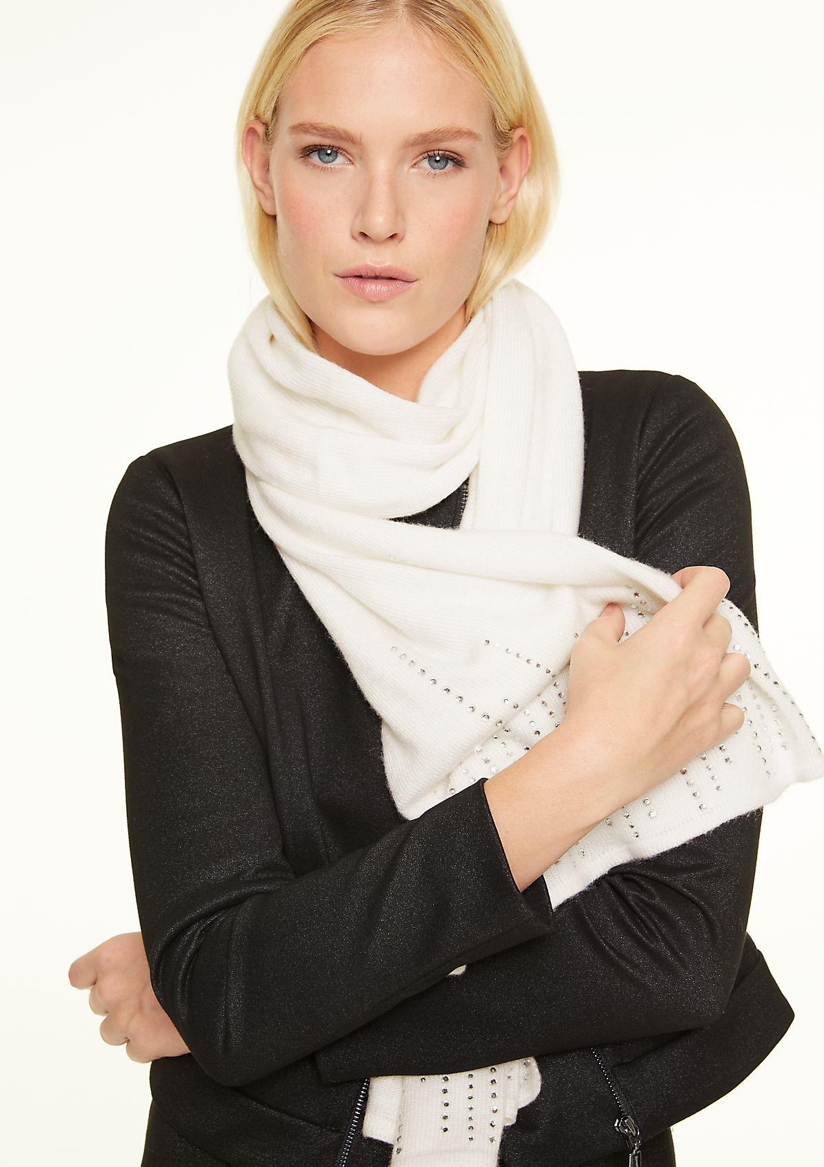 Scarf with gemstones from comma