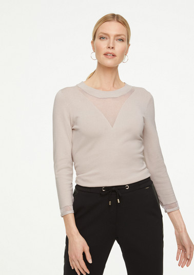 Jumper with a sheer effect from comma