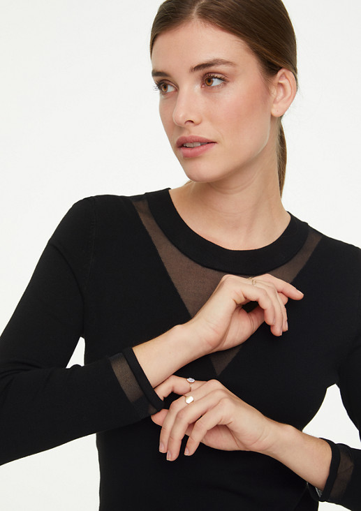 Pullover mit Transparenz-Effekt
