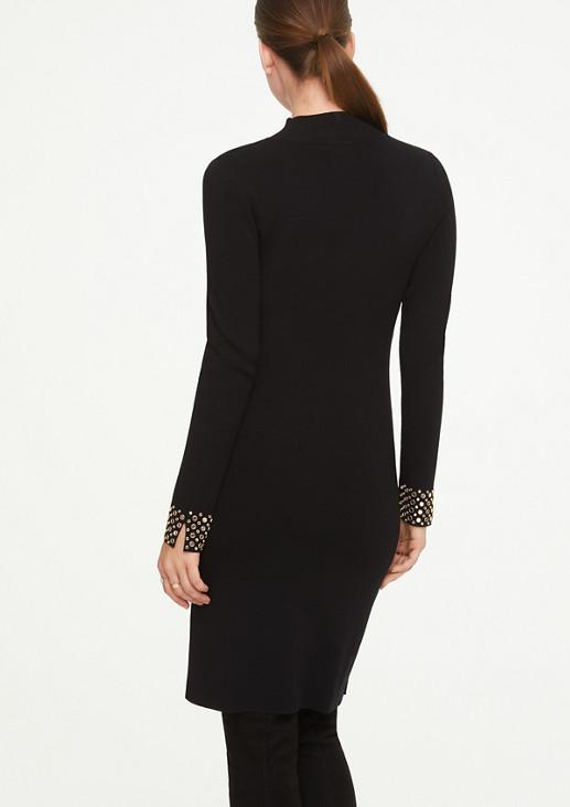 Kleid mit Schmuckstein-Applikation