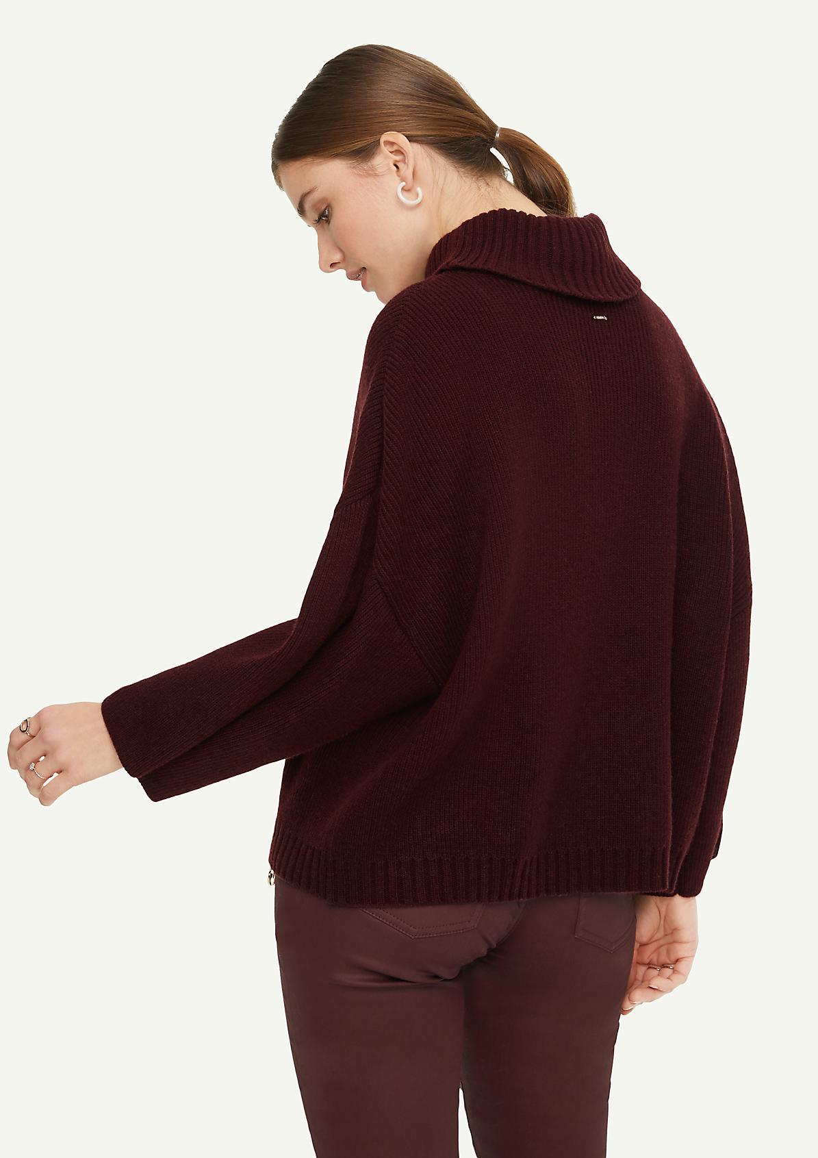Oversize-Poncho aus Wollmix