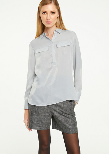 Long sleeve blouse with a button placket from comma