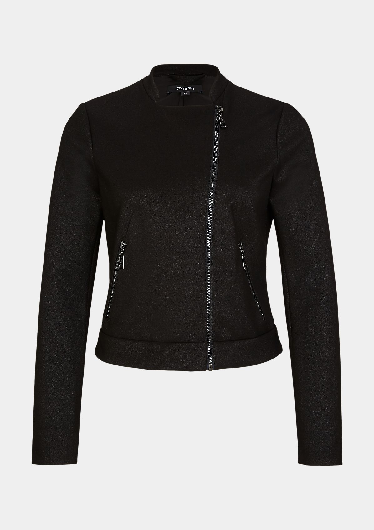 Biker Jacket aus Interlockjersey