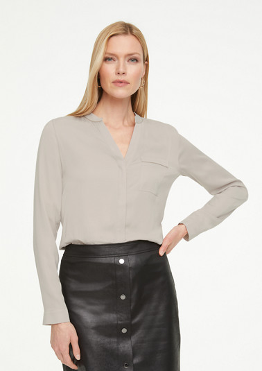 Long sleeve blouse with jewel details from comma