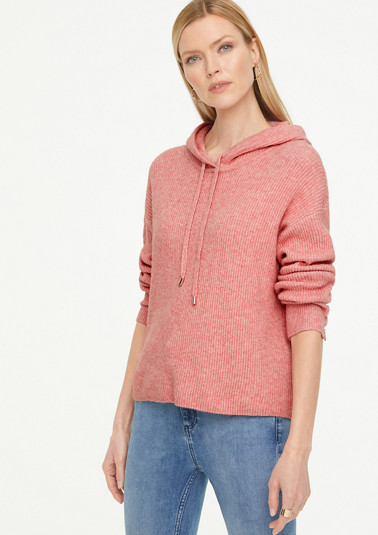 Soft textured knit hoodie from comma