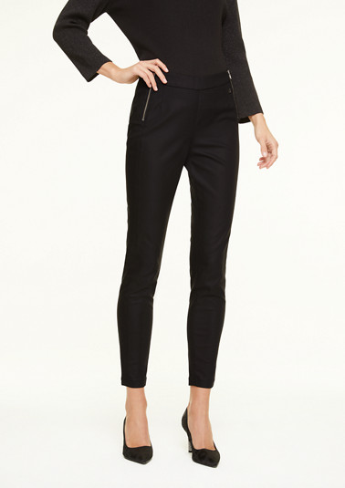 Skinny Fit: trousers with zip details from comma