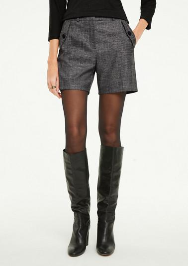 Regular Fit: Shorts mit Glitzergarn