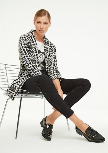 Skinny Fit: Jeans mit Swarovski®-Steinen