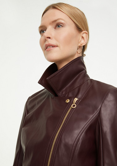 Biker jacket in faux smooth leather from comma