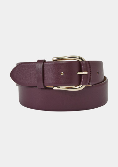 Belt made of smooth genuine leather from comma