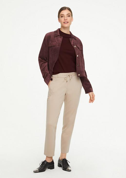 Jerseyshirt mit Stehkragen