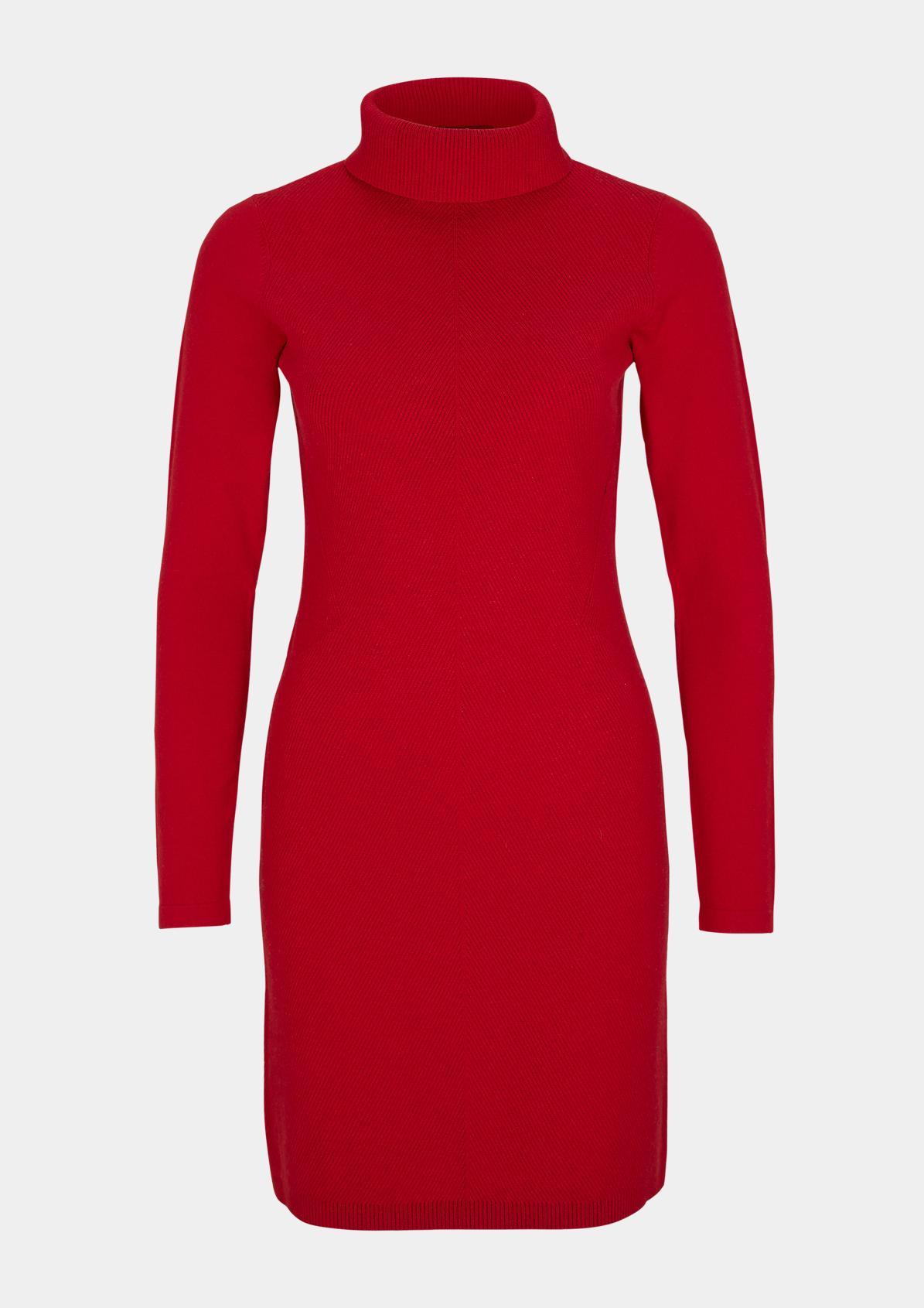 Wollmix-Kleid mit Rollkragen