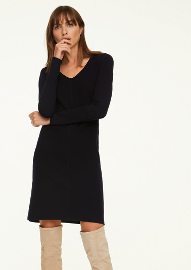 Elegant dress in a textured knit from comma