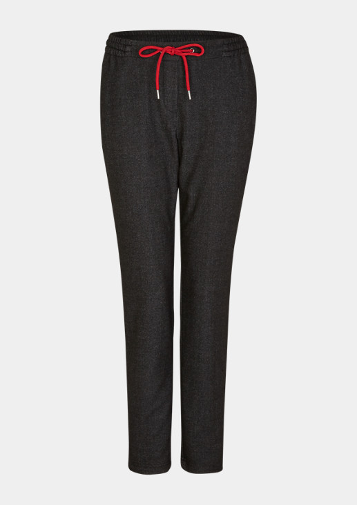 Regular fit: tracksuit bottoms with tape from comma