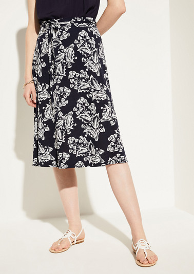 Patterned jersey midi skirt from comma