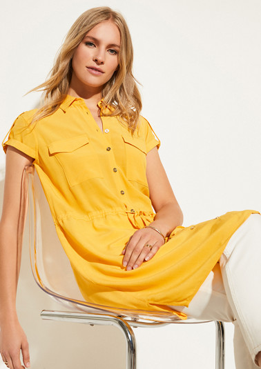 Long blouse with a drawstring from comma