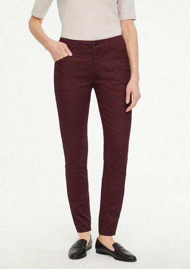 Skinny Fit: Coated trousers from comma