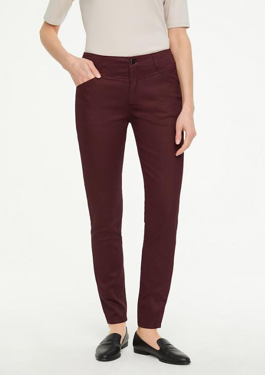 Skinny Fit: Beschichtete Hose