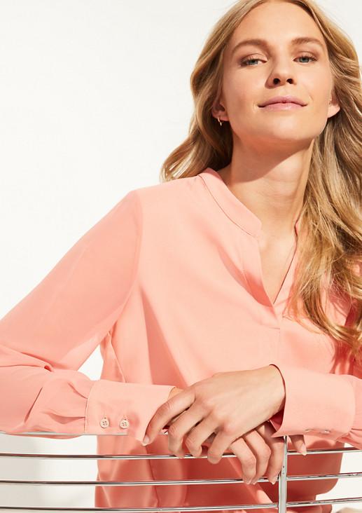 Bluse mit Tunika-Ausschnitt