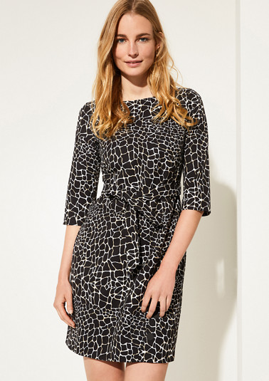 Short dress with an animal pattern from comma