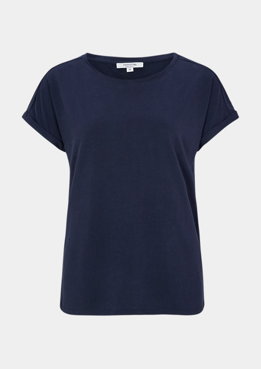 T-shirt with a decorative button placket from comma