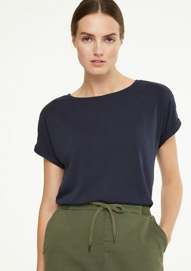 T-Shirt mit Zierknopfleiste