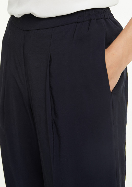 Regular Fit: Culottes with an elasticated waistband from comma