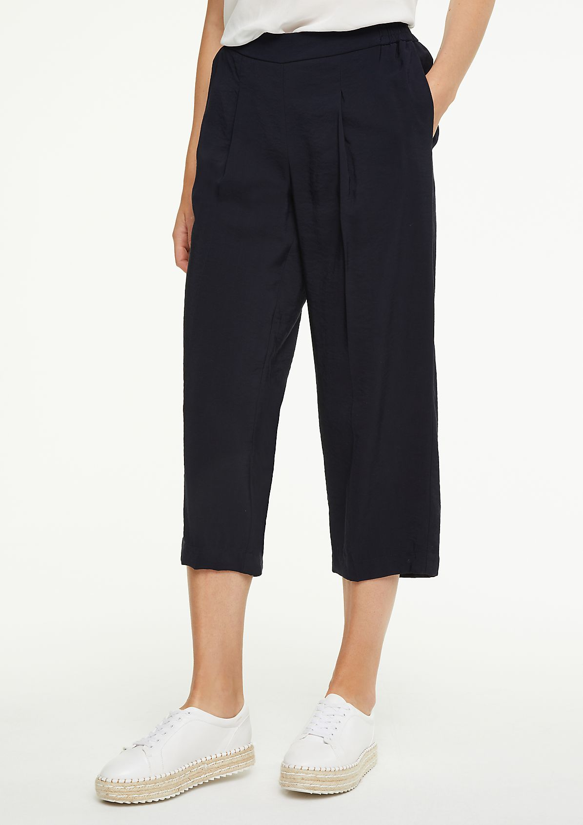 Regular Fit: Culotte mit Elastikbund