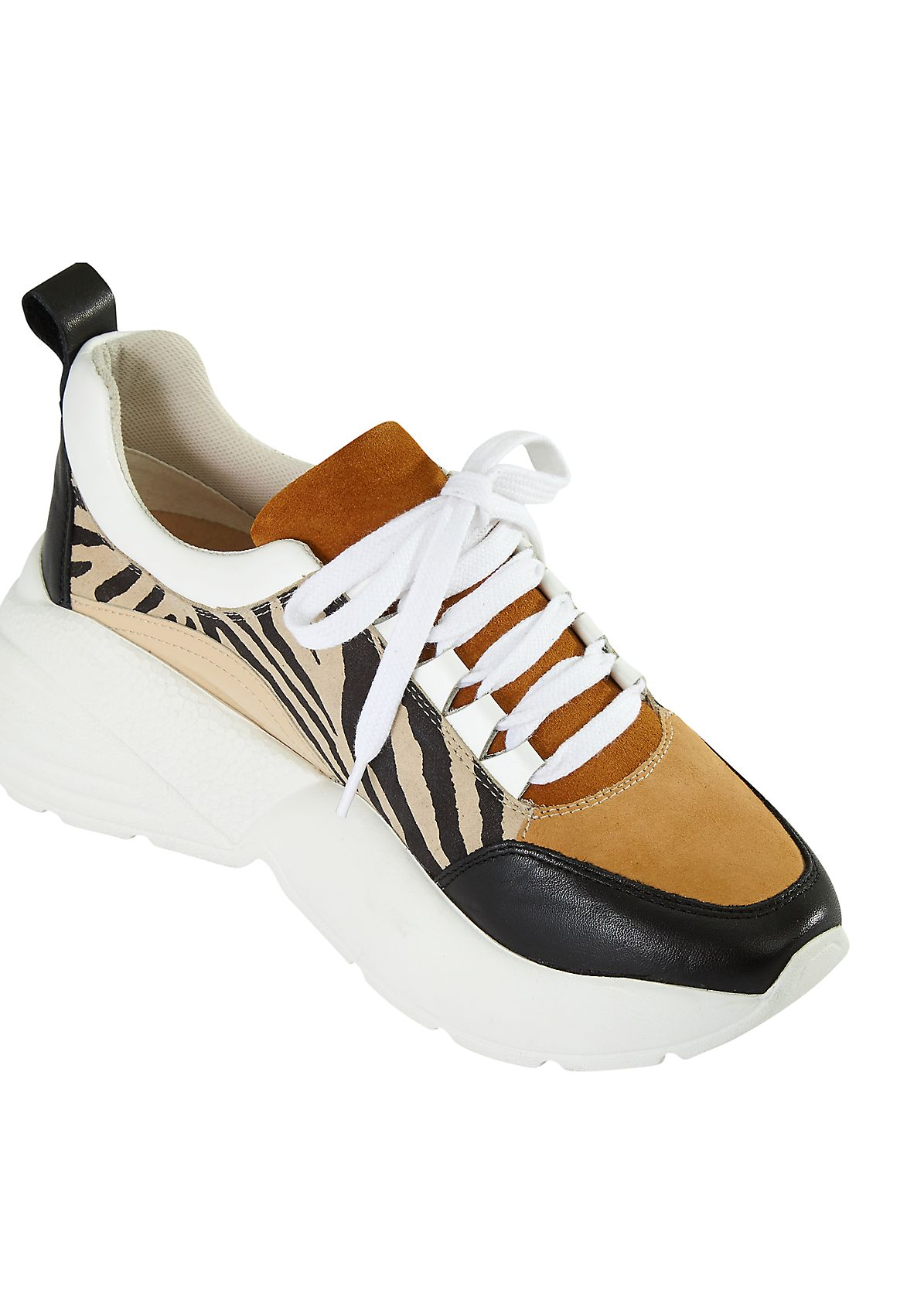 Chunky Sneaker im Fabric-Mix