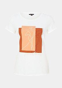 Shirt mit abstrahiertem Grafik-Print