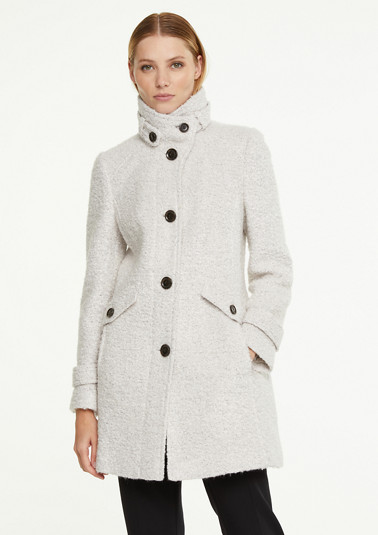 Wool blend coat with strap details from comma