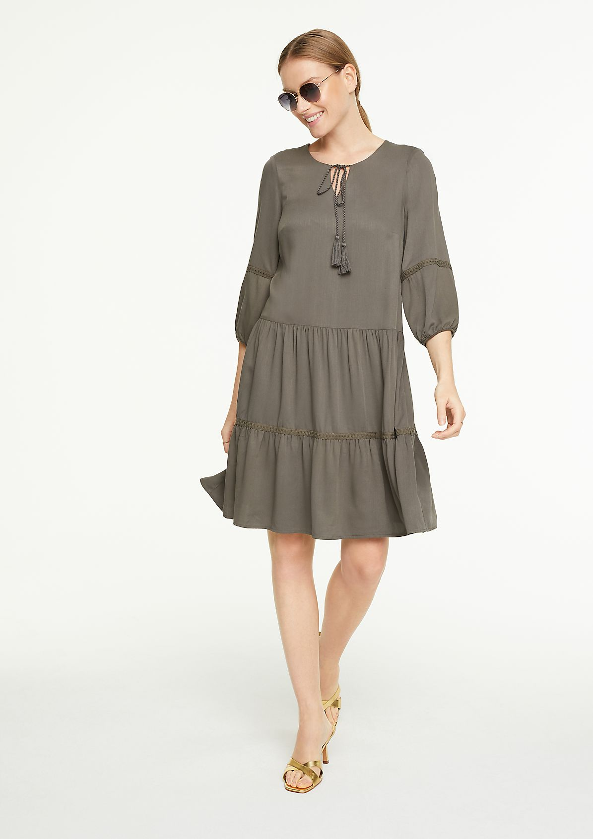 Boho dress with 3/4-length sleeves from comma