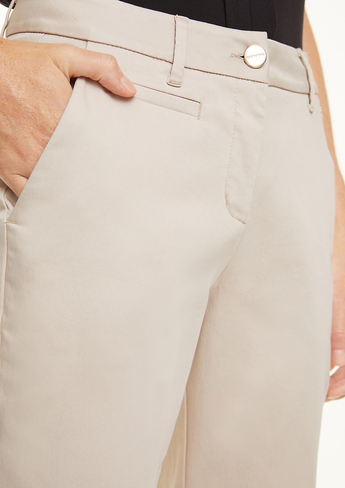 Hose aus Baumwollsatin