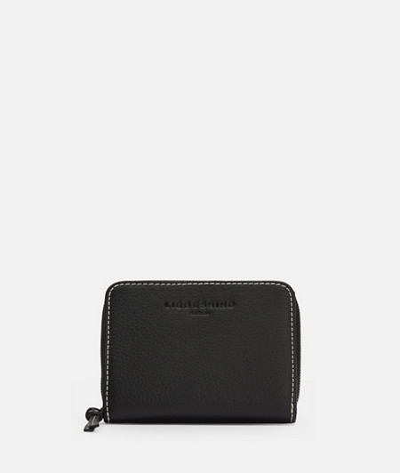 Medium-sized wallet with stitching in a contrasting colour from liebeskind