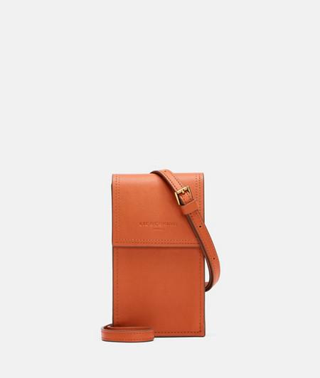 Handyschultertasche mit kontrastreichen Kanten