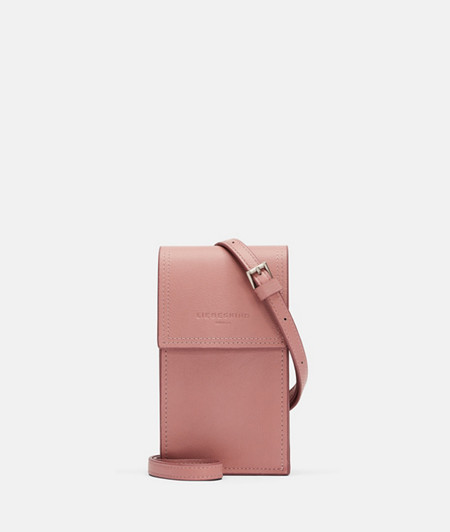 Phone bag with shoulder strap with contrasting edges from liebeskind