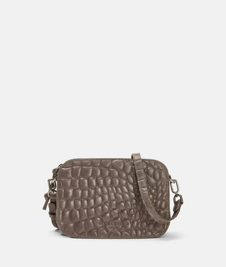 Small shoulder bag with high-quality crocodile embossing from liebeskind