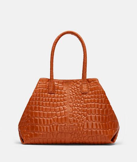 Shopper Tasche mit Krokoprägung