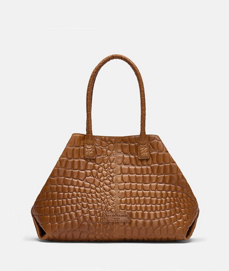 Shopper bag with crocodile embossing from liebeskind