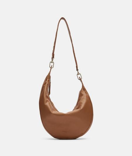 Halbmond Tasche mit asymmetrischer Form