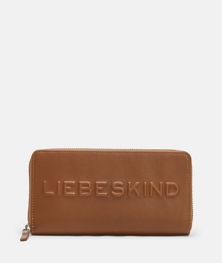 Leather wallet with large embossed logo from liebeskind