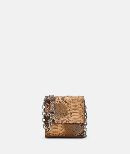 Mini crossbody bag with snakeskin embossing from liebeskind