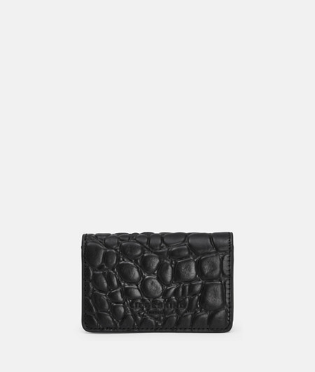 Small wallet with high-quality crocodile embossing from liebeskind