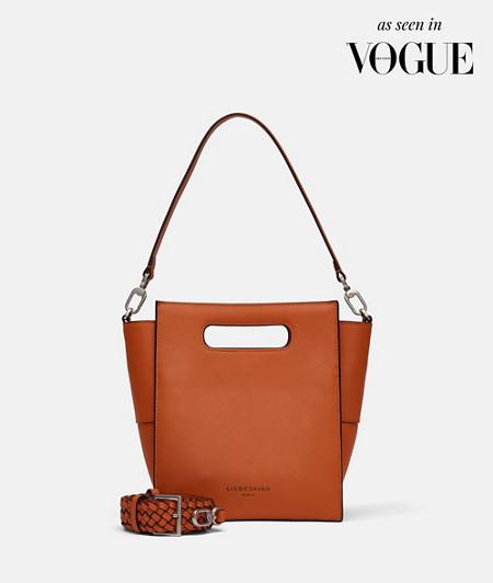 Handtasche aus Leder im Layering Look