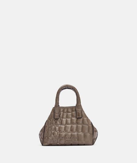 Mini Crossbody Bag mit hochwertiger Krokoprägung