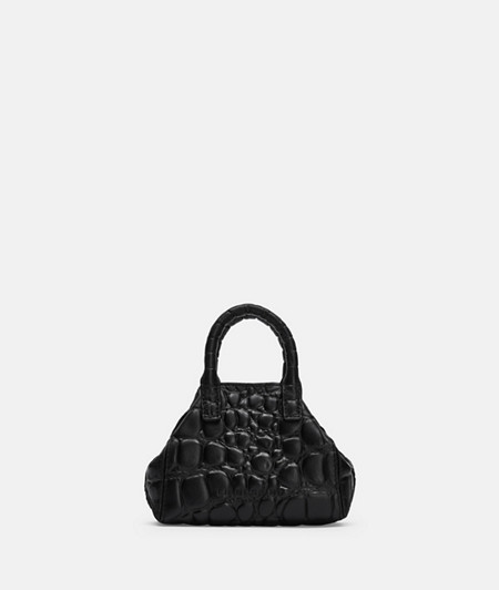 Mini crossbody bag with high-quality crocodile embossing from liebeskind