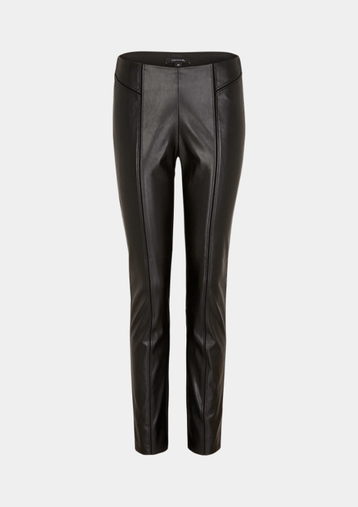 Skinny Fit: 7/8-length trousers in a mix of materials from comma